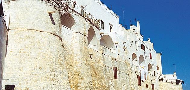 Aragonische Mauern in Ostuni